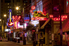 Beale Streetin Downtown Memphis, Tennessee Stock Photos