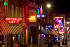 Beale Streetin Downtown Memphis, Tennessee Stock Images