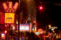 Beale Streetin Downtown Memphis, Tennessee Royalty Free Stock Photography