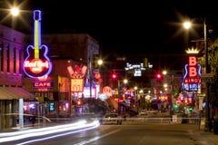 Beale Streetin Memphis céntrica, Tennessee Foto de archivo libre de regalías