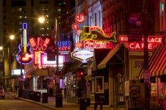 Beale Streetin Memphis del centro, Tennessee Fotografie Stock