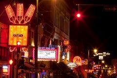 Beale Streetin Memphis del centro, Tennessee Fotografia Stock Libera da Diritti