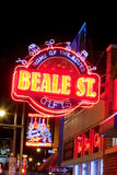 Beale Streetin Memphis do centro, Tennessee Fotografia de Stock