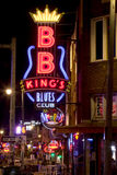 Beale Streetin Memphis do centro, Tennessee Imagem de Stock Royalty Free