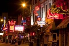 Beale Streetin Memphis do centro, Tennessee Fotos de Stock