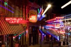 Beale Streetin Memphis do centro, Tennessee (sumário) Imagens de Stock Royalty Free