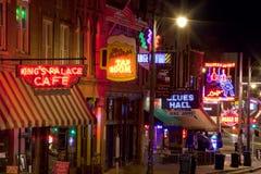 Beale Streetin Memphis Van de binnenstad, Tennessee Stock Afbeeldingen