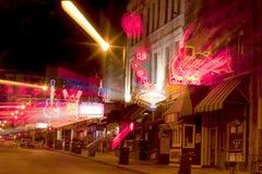 Beale Streetin Memphis Van de binnenstad, Tennessee (samenvatting) Royalty-vrije Stock Foto's