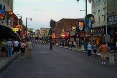 Beale ulica w Memphis, Tennessee w wieczór zdjęcie stock