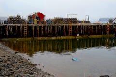 Beals das Dock der Fischer Insel Maine USA Stockfotos