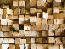 Beam. Squared wooden beam closeup texture background royalty free stock images