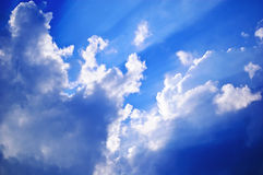 Beam. Out of the blue cloud Stock Photography