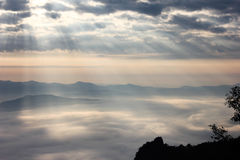 Beam and fog Royalty Free Stock Images