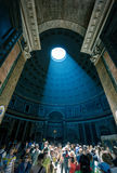Beam of ight in Pantheon, Italy Stock Image