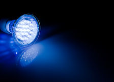 Beam of led lamp. Blue beam of led lamp Royalty Free Stock Images
