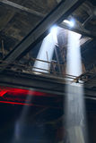 Beam of light. Inside the factory Stock Photography