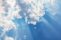 Beam of light and the clouds. Beautiful Beam of light and the clouds Stock Photography
