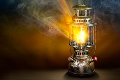 Beam of light from storm lantern Royalty Free Stock Photography