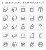 Beam pipe icon Royalty Free Stock Photos
