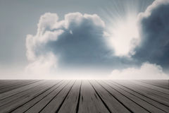 Beam sun cloud backlight magic light blue sky Royalty Free Stock Photos