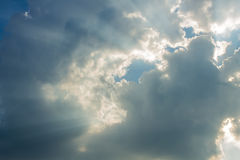 Beam of sun and the clouds Royalty Free Stock Photo