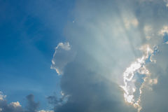 Beam of sun and the clouds Royalty Free Stock Image