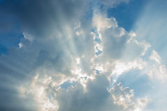 Beam of sun and the clouds Stock Image