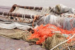 Beam trawl and nets Stock Photography