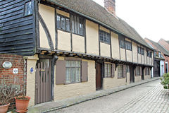 Beamed almshouses cottages Royalty Free Stock Image