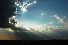 beamful niebo obraz stock