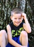 Beam me a Smile Little Boy stock photos