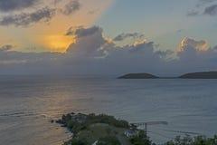 Beaming orange sunset Royalty Free Stock Image