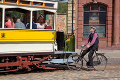 Beamish Cyclist Royalty Free Stock Image