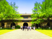 Beamless hall in Linggu temple Royalty Free Stock Photo