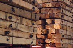 Beams. Wooden beams stock image