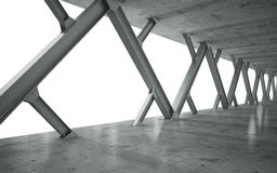 Beams and concrete structure royalty free illustration