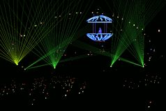 beams dj-laser-vektorn Royaltyfria Foton