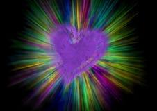 beams hjärta Arkivbilder