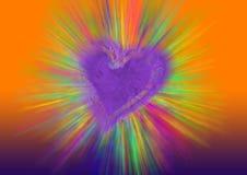 beams hjärta Arkivbild