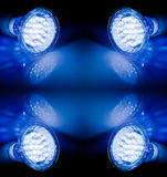 Beams of led lamps Stock Photo