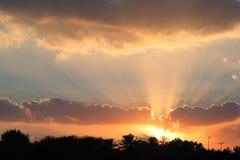 Beams of light Stock Image