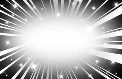 Beams of Light Rays on Black Stock Image