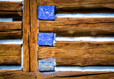 Beams log cabin Royalty Free Stock Photography
