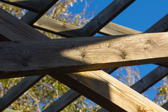 Beams of wood for structure Stock Images