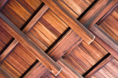 Beams of a wooden ceiling. Detail of a wooden ceiling in a Japanese temple stock images