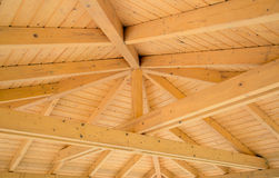 Beams on a wooden structure Royalty Free Stock Images