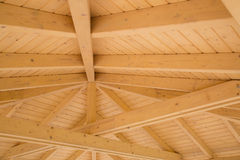 Beams on a wooden structure Stock Images