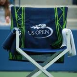 Beamttuch des US Open 2016 auf Spielerstuhl Stockfotos