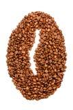 bean śniadanie kawa ideał wyizolował makro nadmiar białych Obrazy Stock