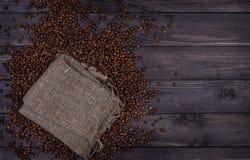 bean śniadanie kawa ideał wyizolował makro nadmiar białych Odgórny widok z kopii przestrzenią Zdjęcia Royalty Free